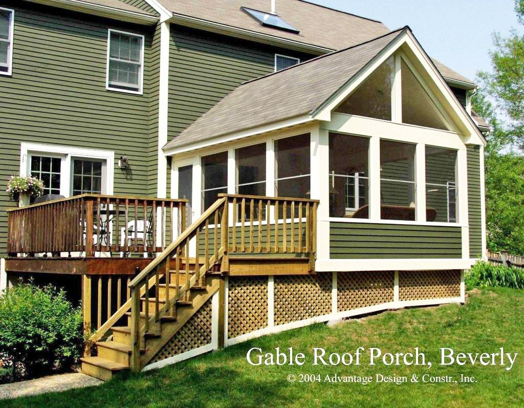 Gable Rood Porch In Beverly Edited Jpg 1 024 797 Pixels Porch Design Three Season Porch House With Porch