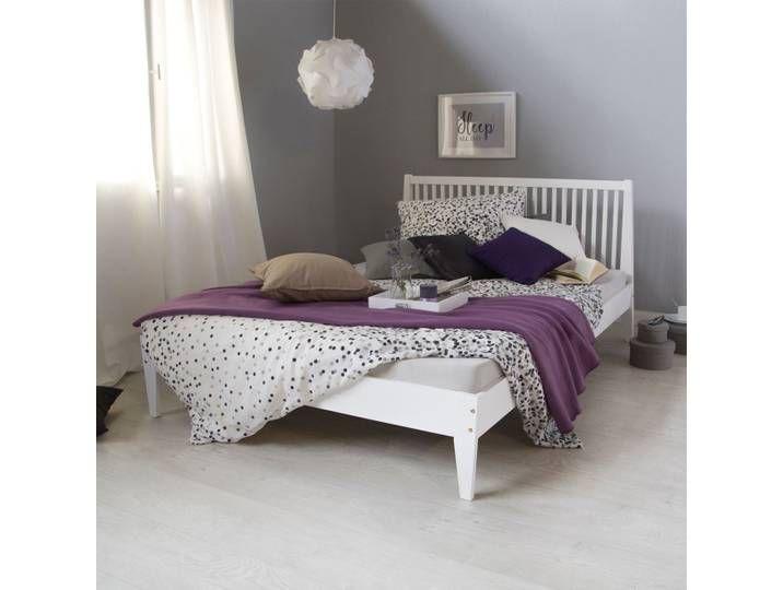 Futonbett 140x200 Weiss Holzbett 527 Doppelbett Bed Frame Bed Wooden Daybed