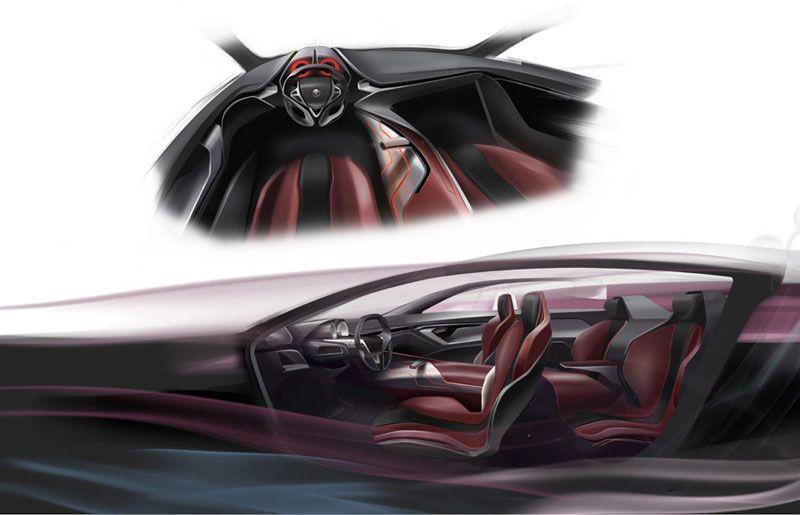 IED Alfa Romeo Gloria Concept Interior Design Sketch
