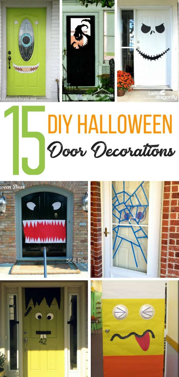 Create a unique and boo-tastic looking front door with one of these DIY Halloween Front Door Decoration Ideas. These ideas are great for your home or classroom | #passion4savings #Halloween #DIY #FrontDoor #DecorateYourDoor #Spooky #Classroom #Home via @Passion4Savings #halloweendoordecorations