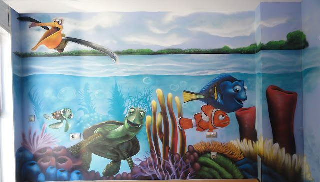 Berok Graffiti artist: Finding Nemo painting: a baby\'s room ...
