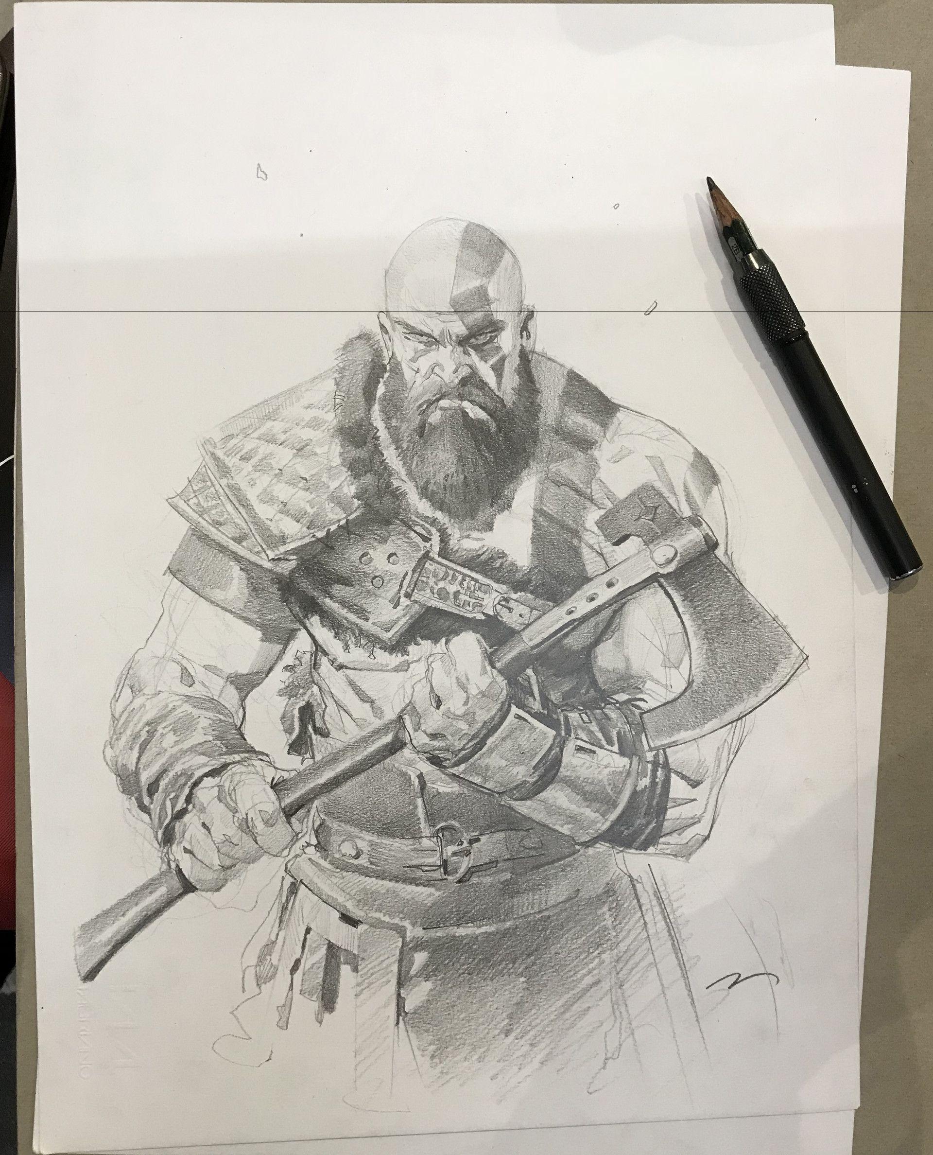 Pin De Mateussilvalima Em God Of War Kratos Desenho Desenhos