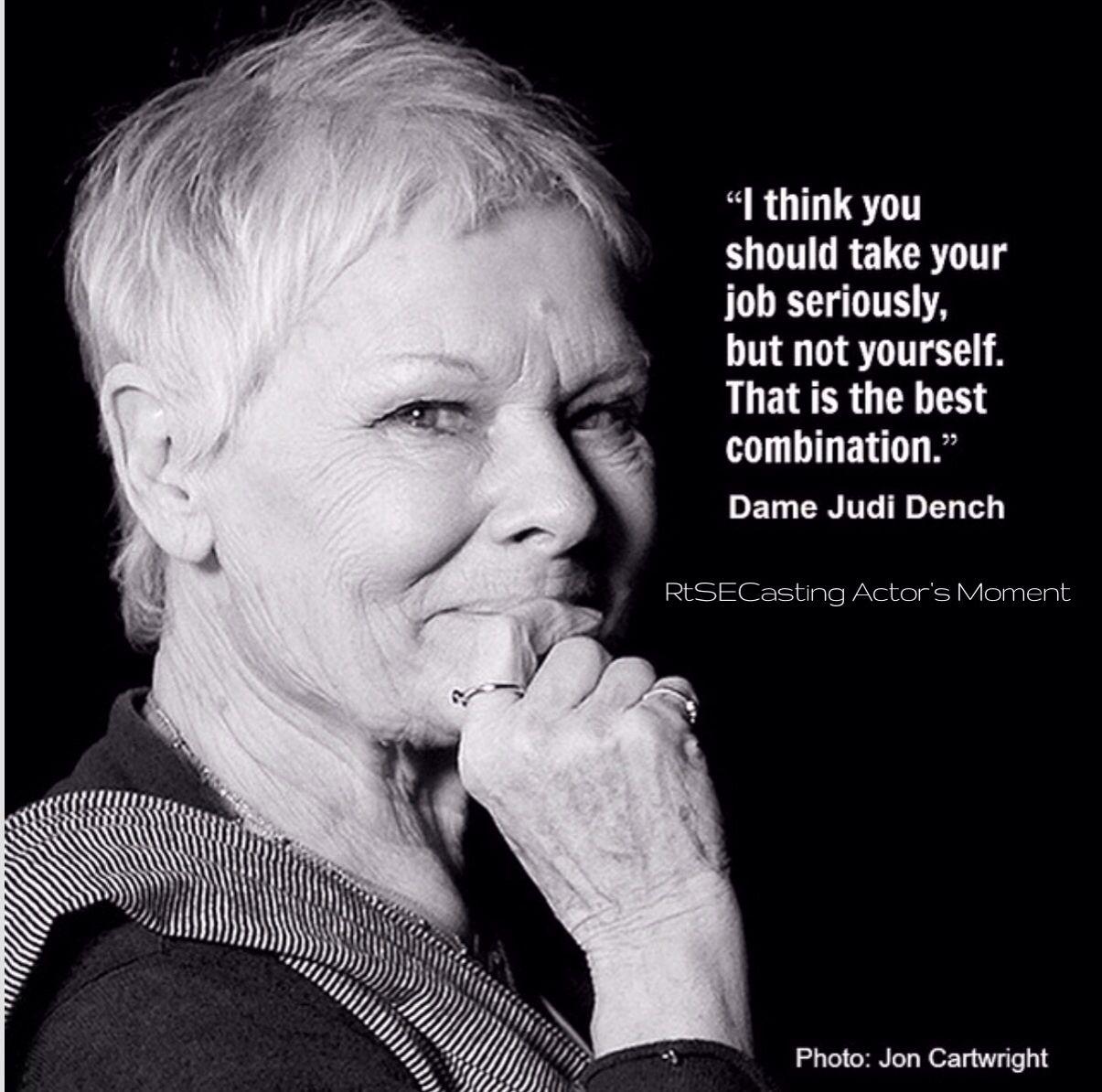 Acting Quotes Quoteoscar Winning Actress Dame Judi Dench  Actors Quotes