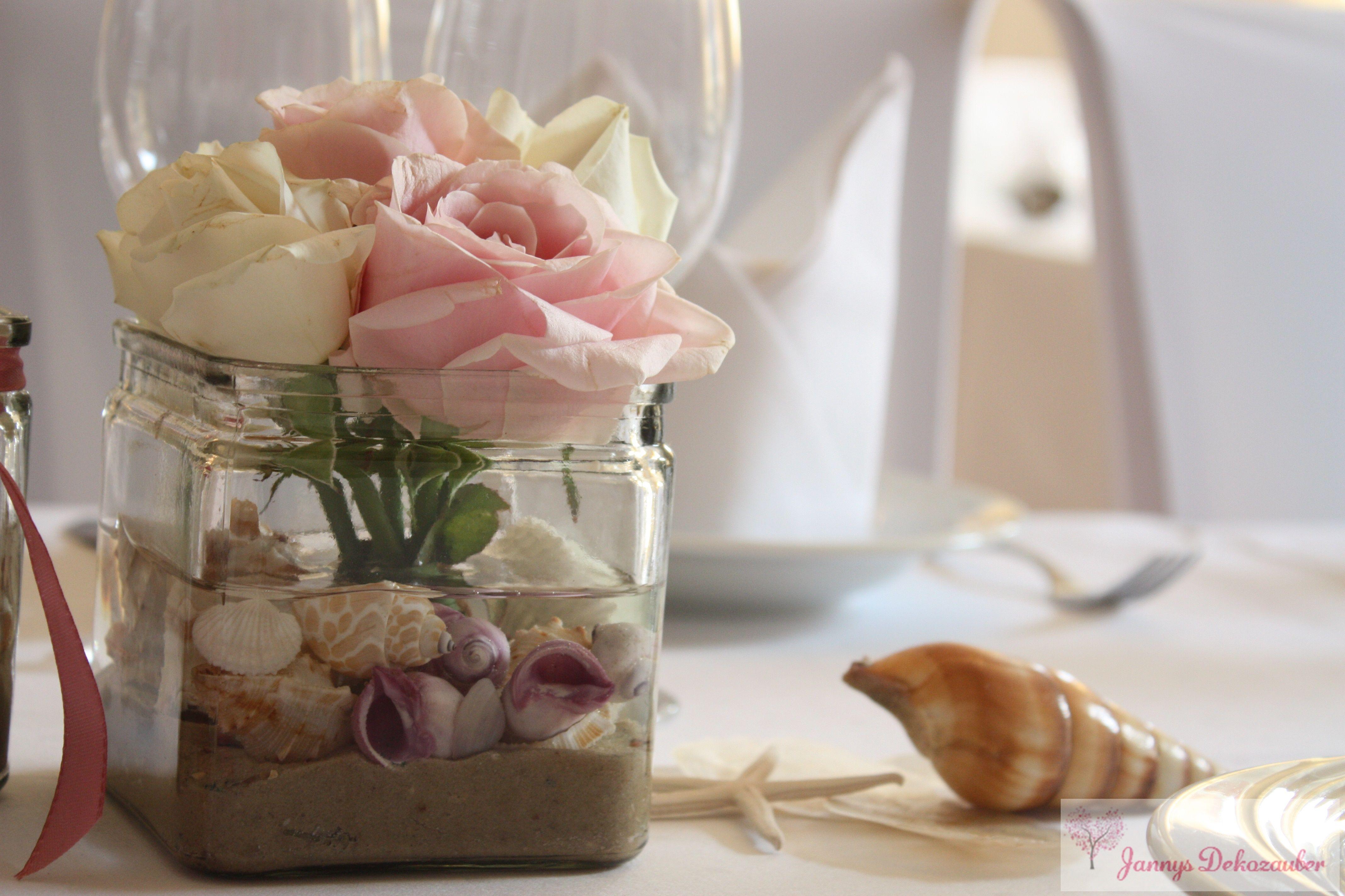 tischdeko hochzeit hochzeitsdeko maritim rosa muscheln seensterne perlmutt blumen mietgef e. Black Bedroom Furniture Sets. Home Design Ideas