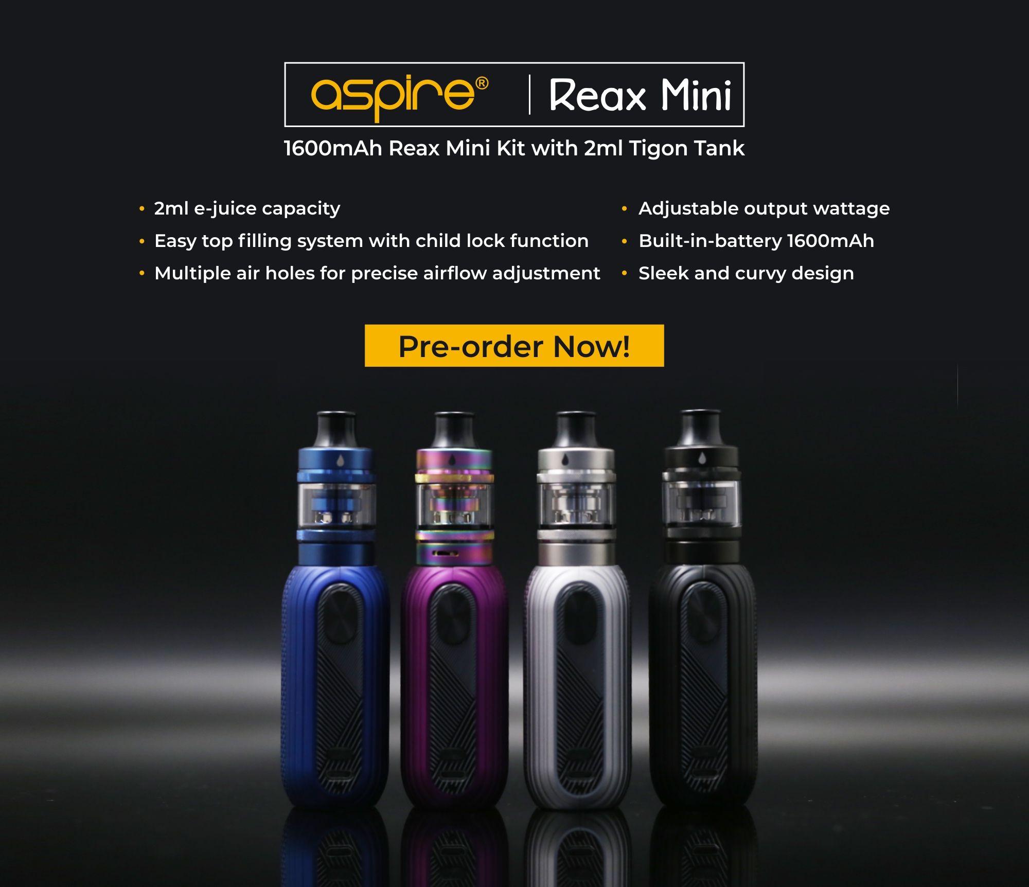 Introducing Aspire Reax mini Kit with 1600mAh builtin