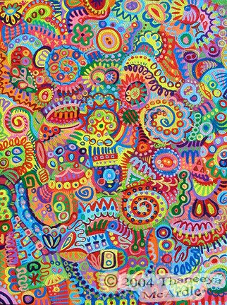 detailed colorful abstract art painting by thaneeya - Colorful Art