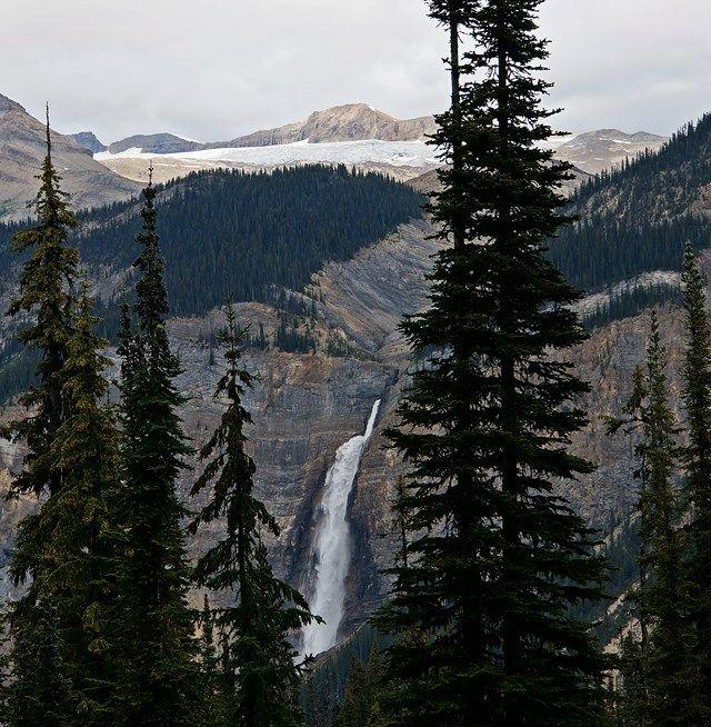 Takakkaw Falls from Yoho Lake Trail in Yoho National Park, BC, Canada.