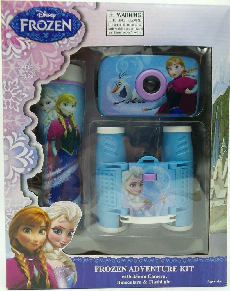 Disney Frozen Travel Adventure Kit Camera Binoculars Flashlight New Disney Princess Toys Baby Girl Toys Frozen Room