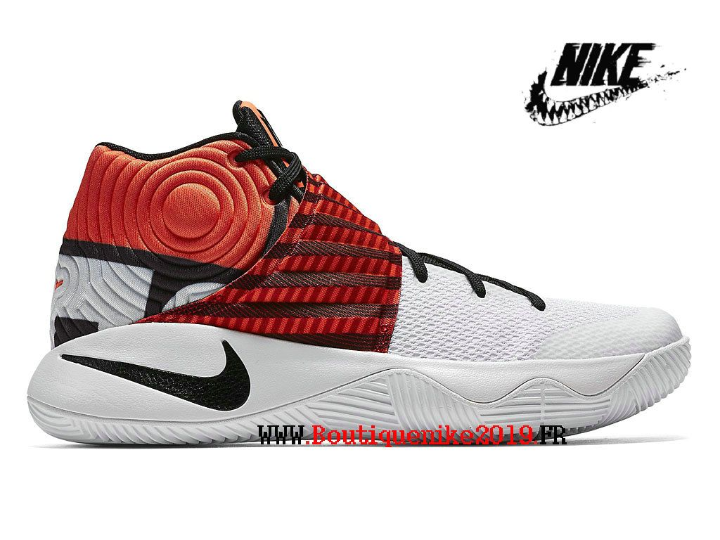 buy online 189a2 3d6be Nike Kyrie 2 Chaussures Nike Basket Homecoming Pas Cher Pour Homme Blanc  noir rouge 838639 990-