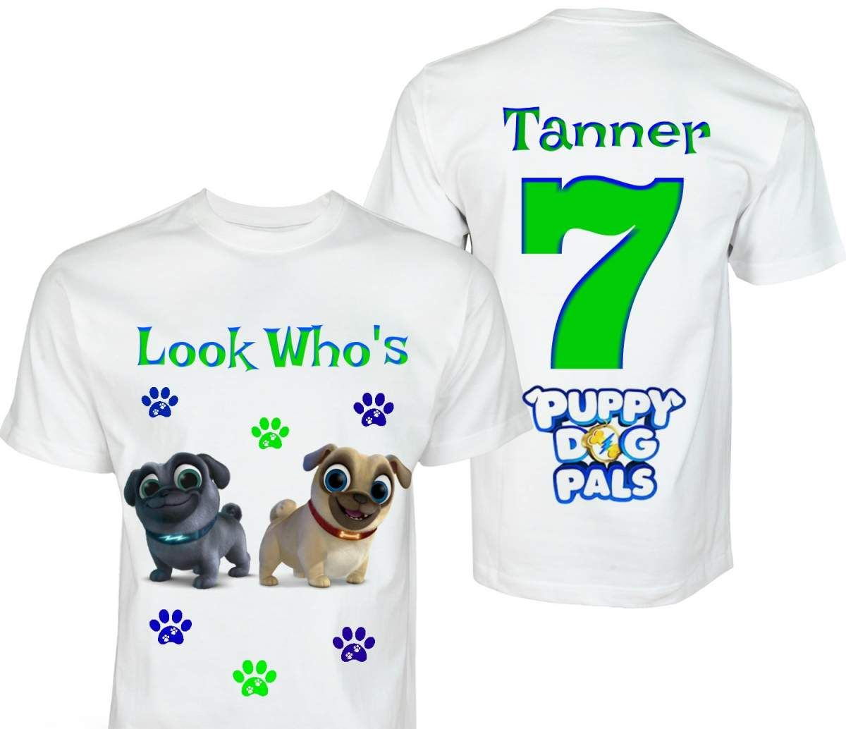 Puppy Pals Birthday Shirt Puppy Dog Pals Personalized Birthday Shirt