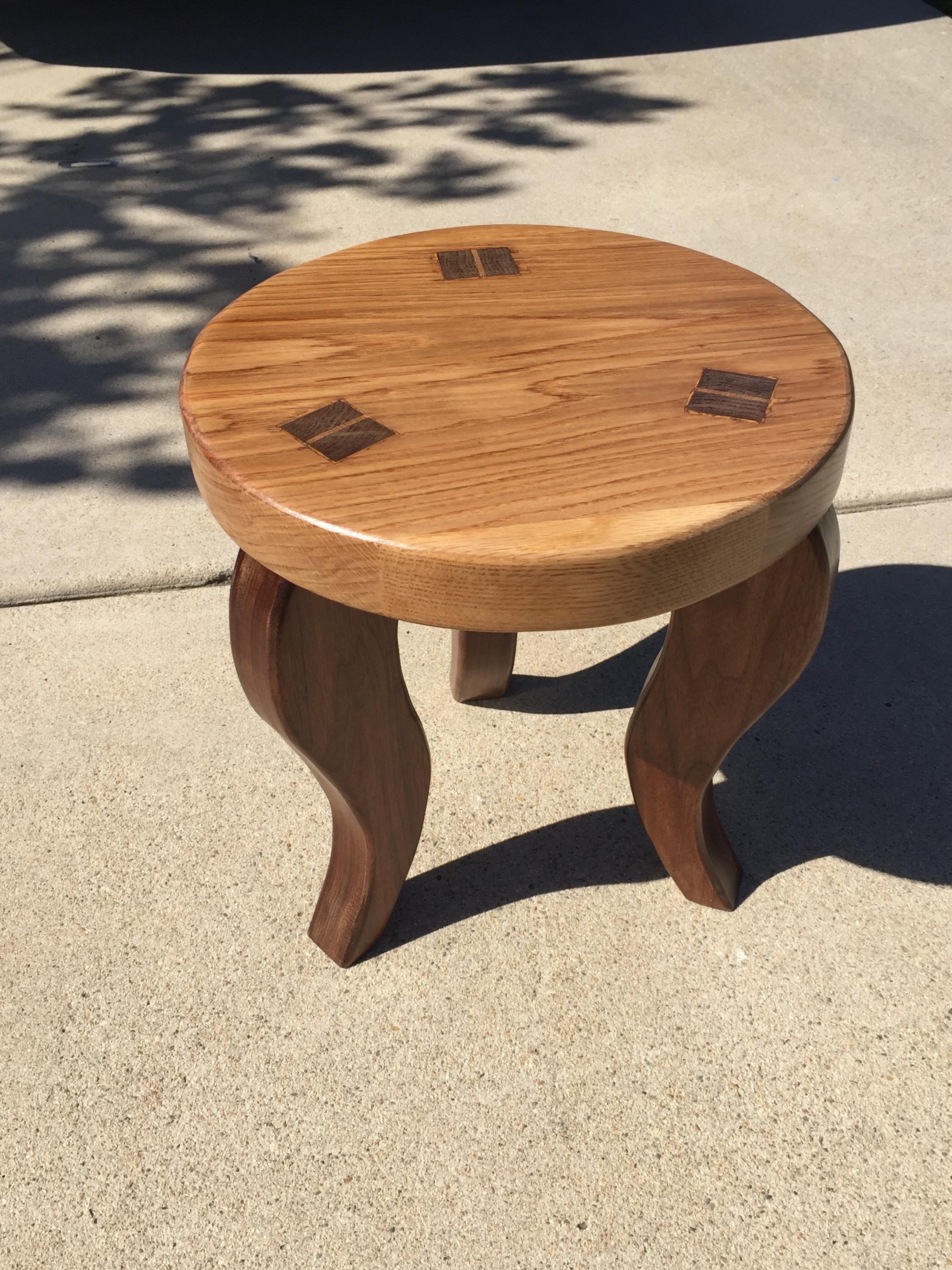 built a stool with my grandpa from nick offerman's wood