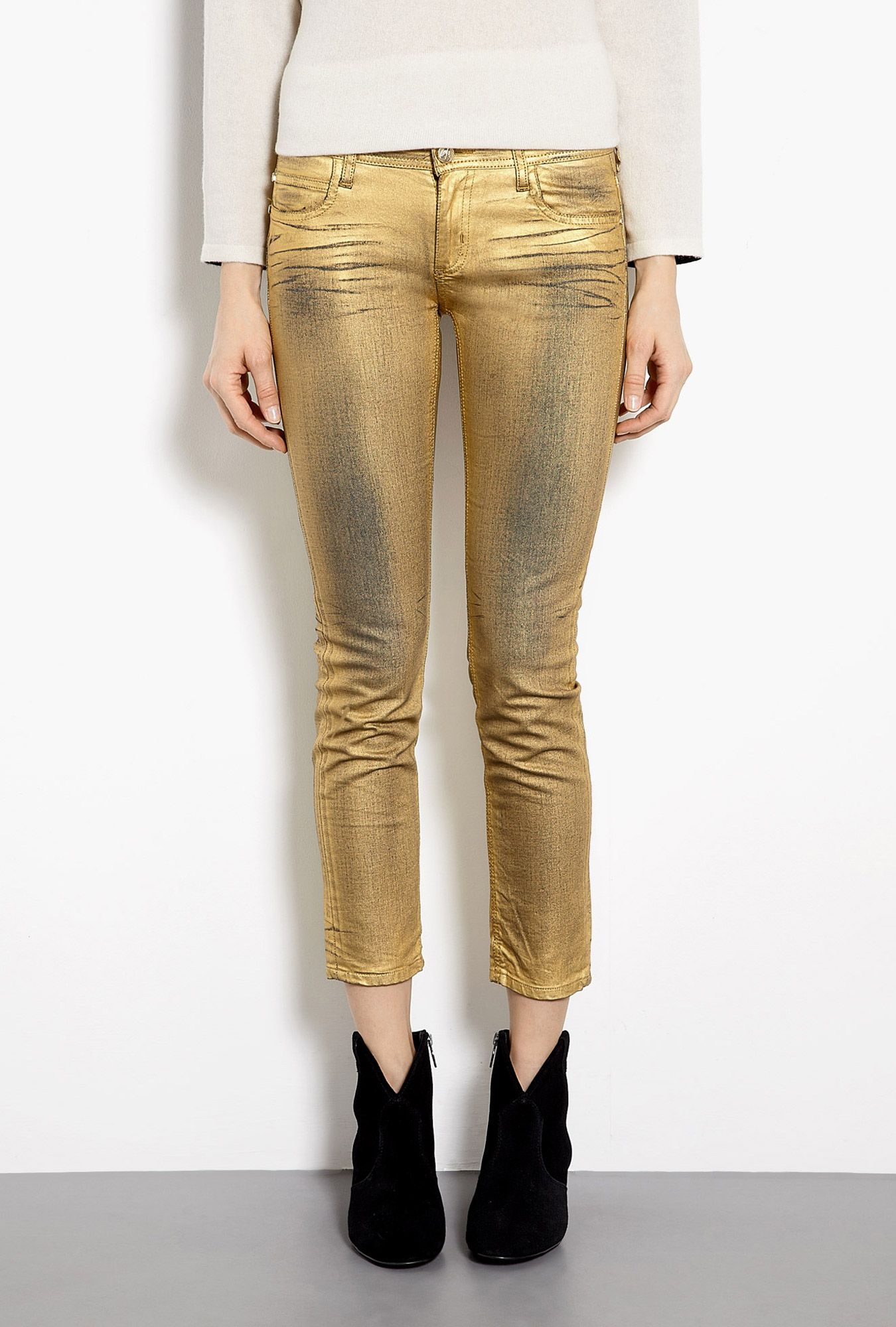 Milar Washed Gold Skinny Jeans by Faith Connexion
