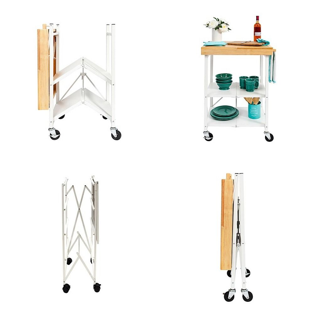 Buy Origami Foldable Kitchen Cart Only From Bed Bath