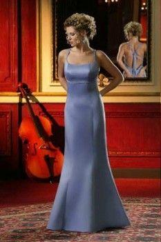 Lavender Square Neck Satin Bridesmaid Dresses Of Column