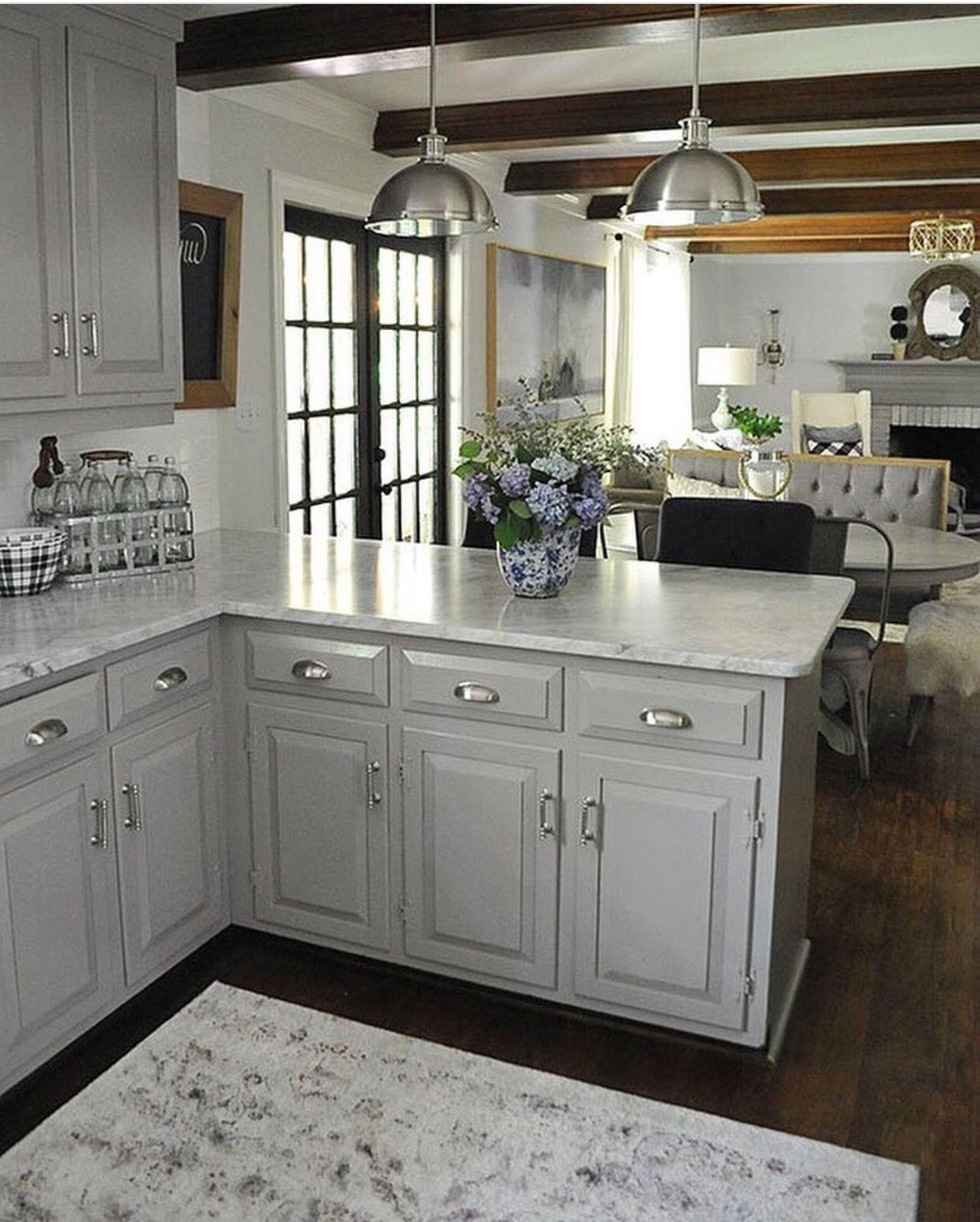 Stunning Grey Wash Kitchen Cabinets Ideas In 2020 Kitchen Remodel Small Kitchen Design Home Kitchens