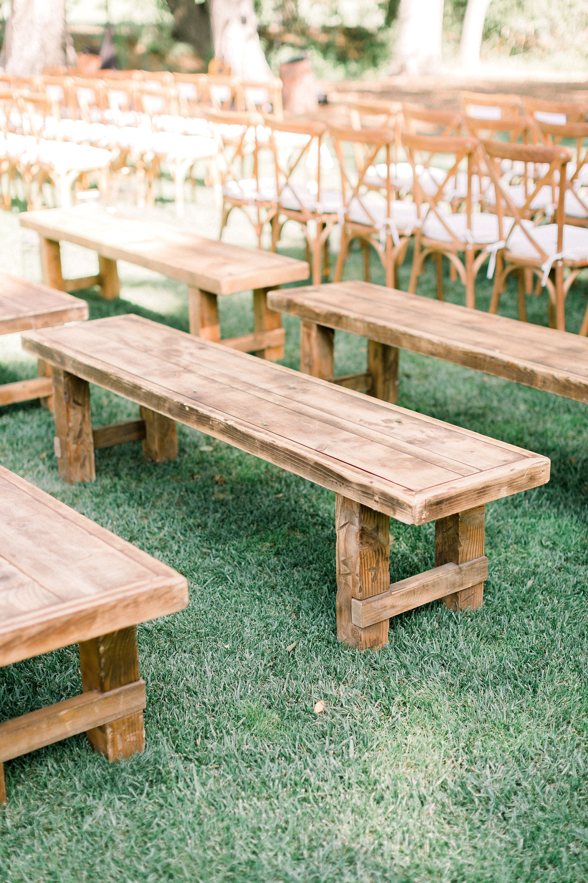 Farm Tables And More San Diego San Diego Wedding Rentals Wedding Ceremony Seating Wed Farm Wedding Ceremony Wedding Bench Seating Wedding Ceremony Seating