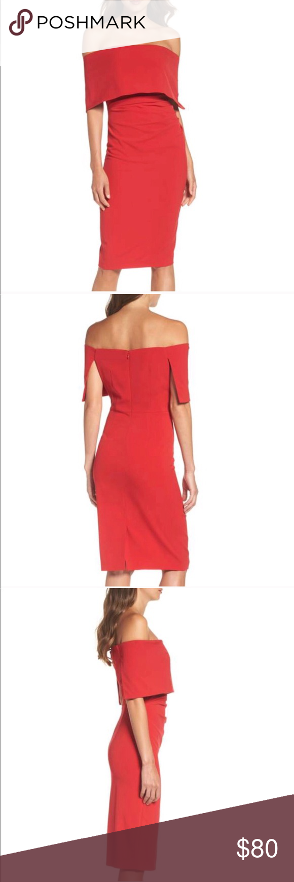 Popover Midi Red Dress Red Midi Dress Dresses Clothes Design [ 1740 x 580 Pixel ]