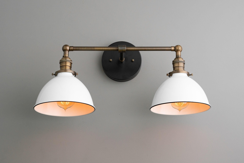 Farmhouse Vanity White Shade Light Wall Light Fixture