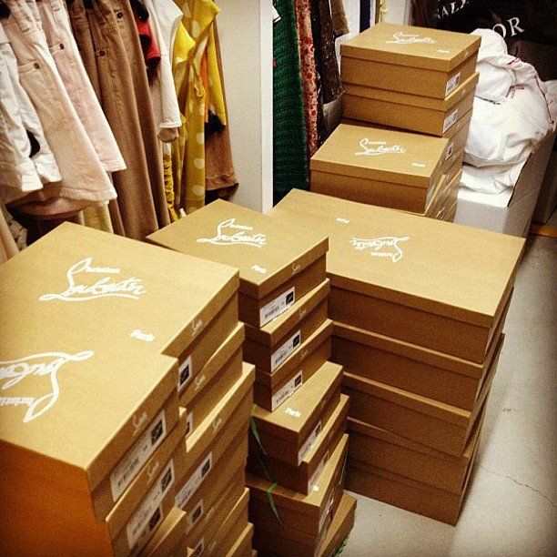 christian louboutin shoe box closet