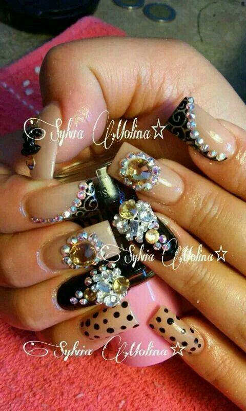 Nail art 》 | uñas | Pinterest | Uñas estilo sinaloa, Diseños de ...