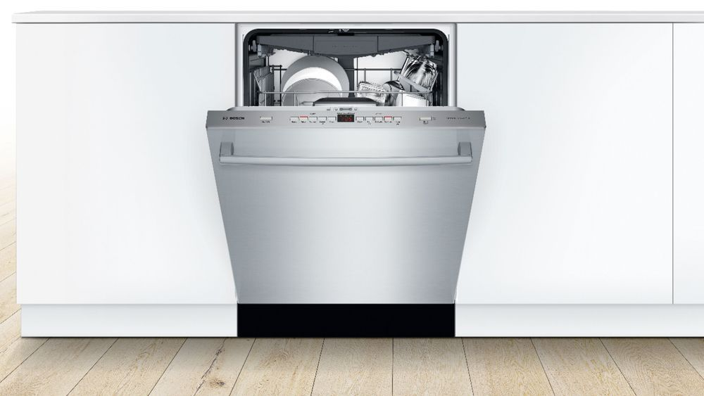 Bosch 500 Series 24 Top Control Built In Dishwasher With Autoair Stainless Steel Tub 3rd Rack 44 Dba Stainless Steel Shxm65z55n Best Buy Steel Tub Built In Dishwasher Integrated Dishwasher