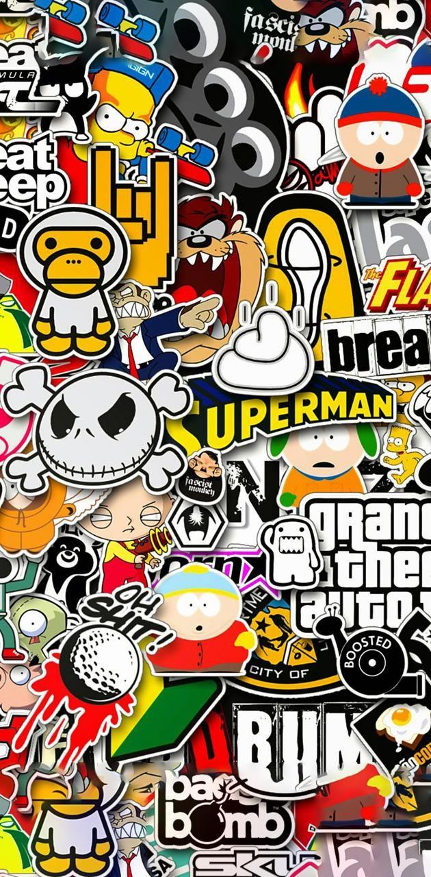 Sticker brand art wallpaper by _tUrBoGuY_ - 3c4b - Free on ZEDGE™