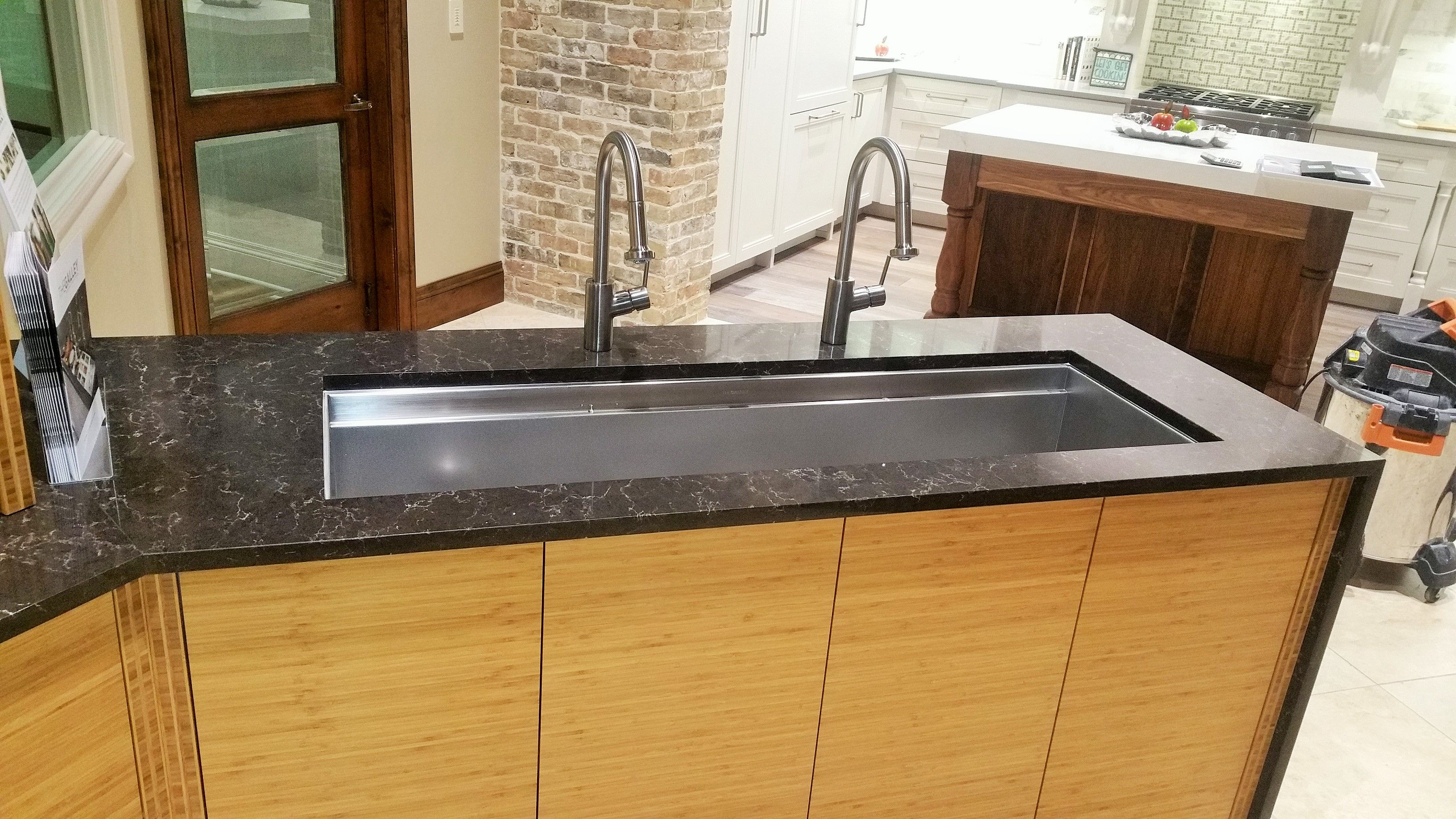 Ceasarstone Woodlands Countertop Custom Countertops Quartz Galley Sink Our Custom