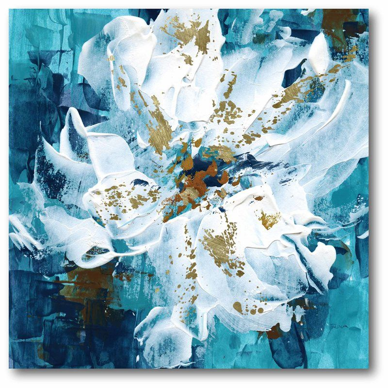 Flowers Ii Print On Wrapped Canvas Abstract Flower Painting Modern Art Paintings Abstract Acrylic Painting Flowers