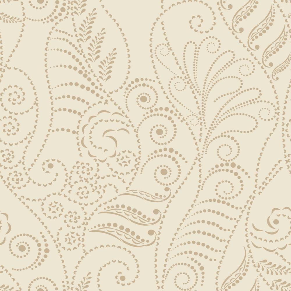 Modern Fern Wallpaper In Antique Gold On Cream From The Breathless Col Fern Wallpaper Candice Olson Wallpaper Metallic Wallpaper