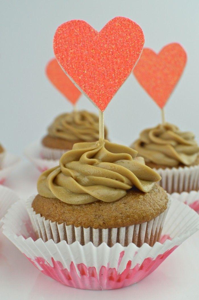 Valentinstag Kuchen Muffin Dekoration Herz