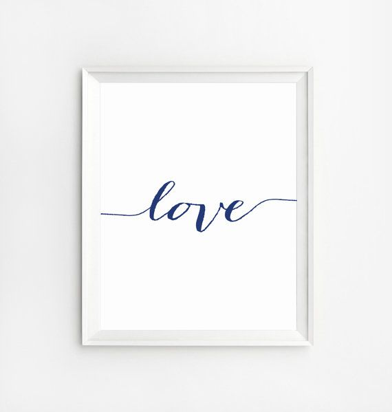 Love Wall Art Printable Wall Art Love Print Wall Art by NUAGEshop