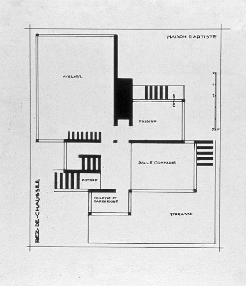 THEO VAN DOESBURG FLOORPLAN MAISON Du0027ARTISTE, 1923 u003e more - plan architecturale de maison