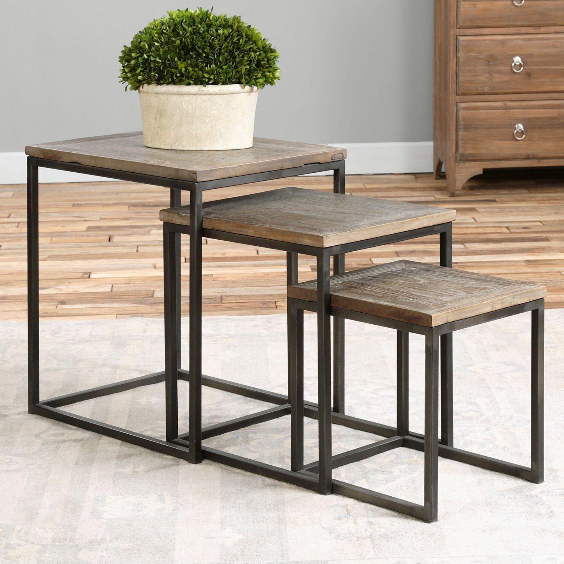Uttermost Bomani Wood Nesting Tables - Set of 3 - 24460