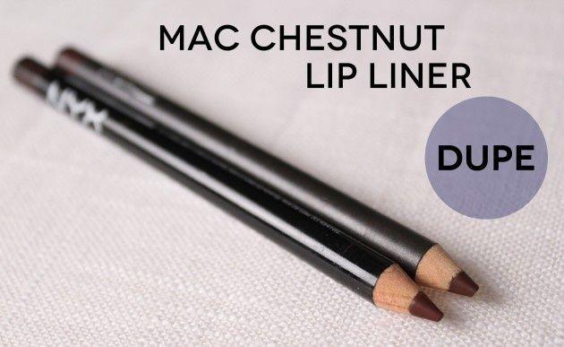 mac chestnut lip liner dupe