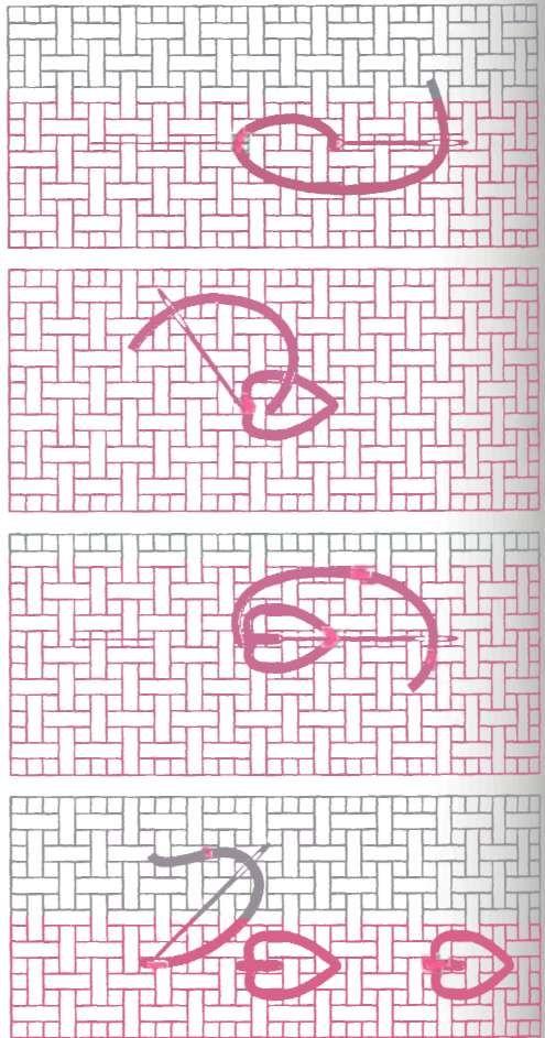 Embroidery stitch. Punto de bordado. How to.