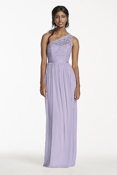 Long One Shoulder Lace Bridesmaid Dress F17063 | Wedding ...