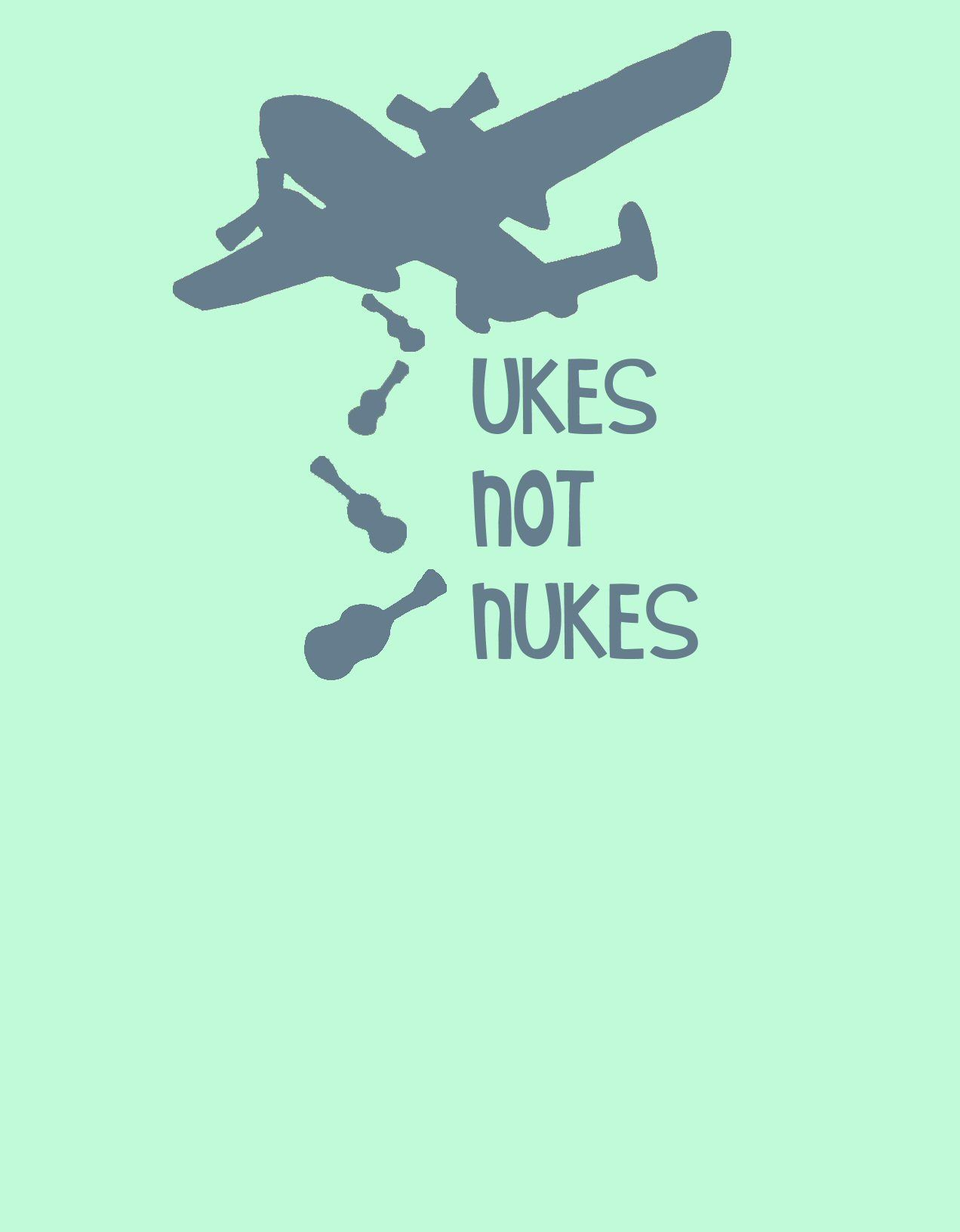 Moon Booots My Ukes Not Nukes Drawing Drawings Home Decor Decals Artsy [ 1632 x 1272 Pixel ]