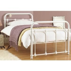 purity single white metal bed frame - Single Metal Bed Frame