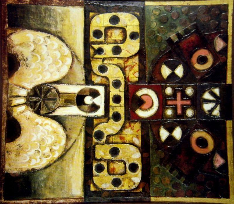 Bird Serpent And Turtle By Leonard French C 1963 Australian