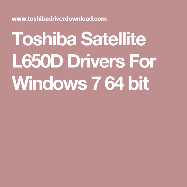 Toshiba Satellite L650d Driver