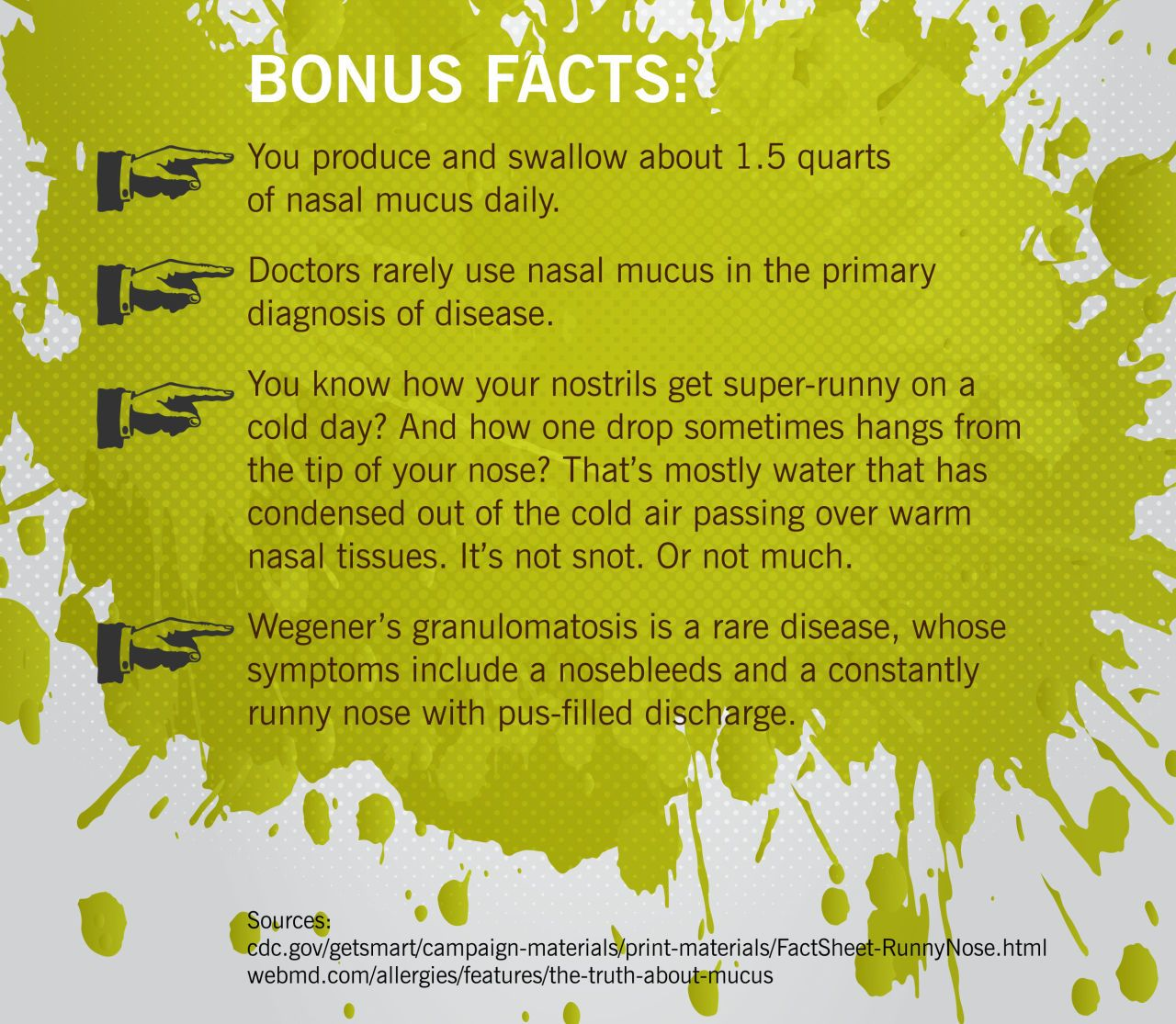 What the Color of Your Snot Is Telling You | Mucus color, Yellow ...