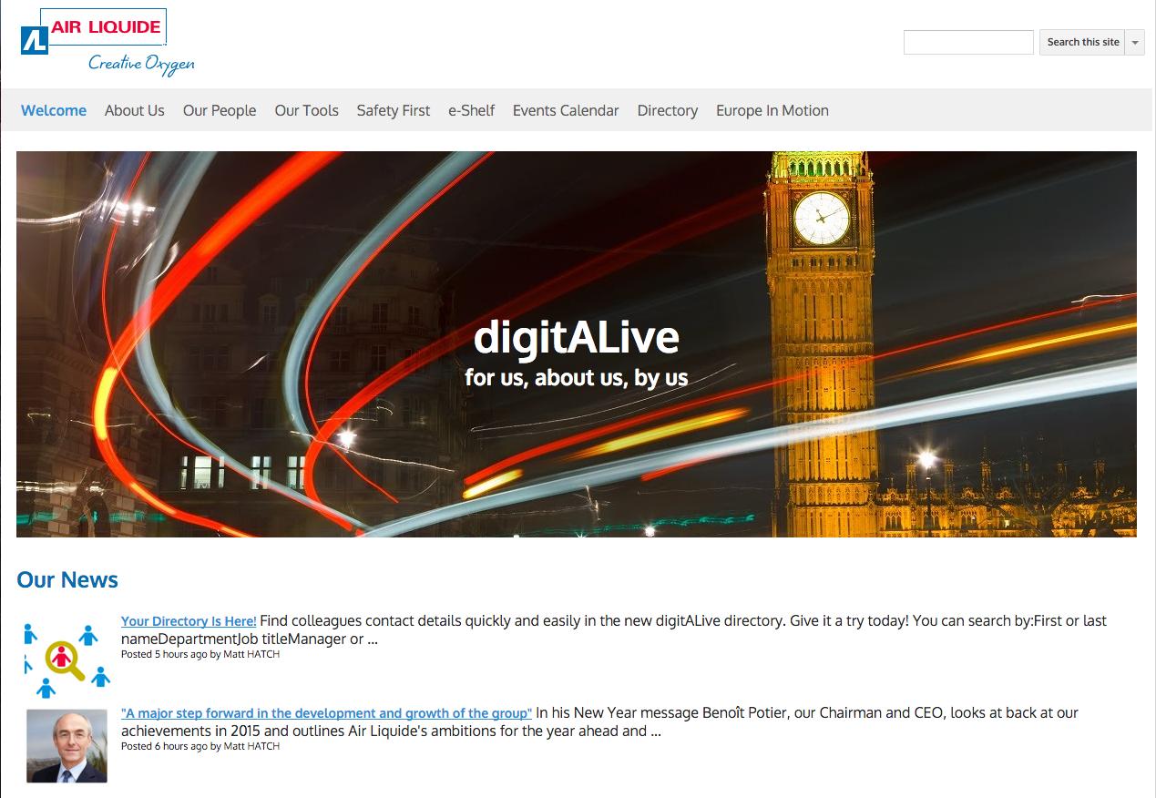 Air Liquide UK Site, Design, Google sites
