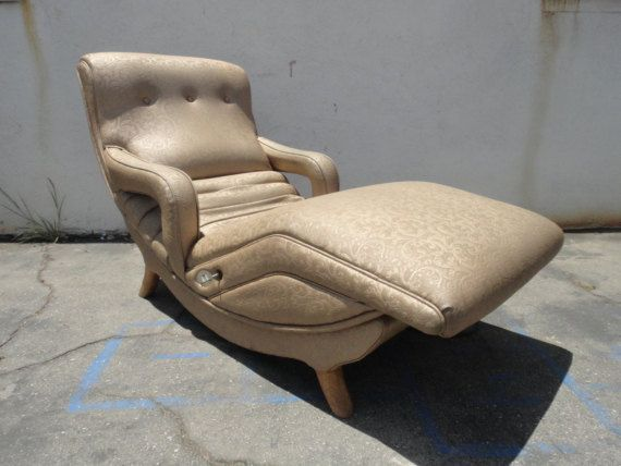 Vintage 1950 S Contour Vibrating Lounger Chair In