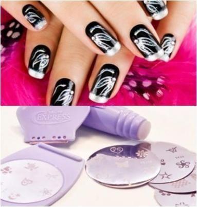 Salon Express Nail Art Nagel Stempel Set Gratis Verzending