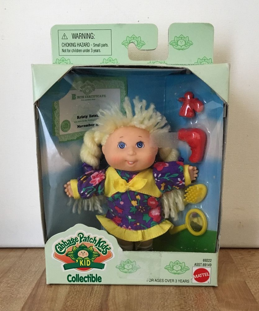 Cabbage Patch Kids Kid Collectible Kristy Estelle Doll 1995 New Cabbage Patch Kids Vintage Toys Cabbage Patch