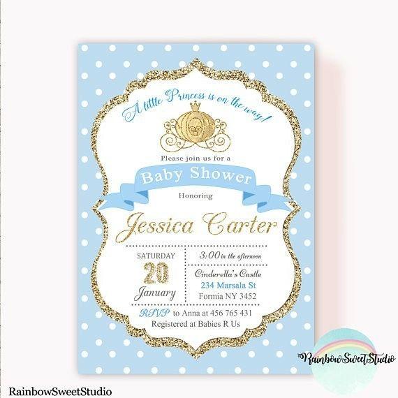 Cinderella Baby Shower Invite Cinderella Pinterest Cinderella