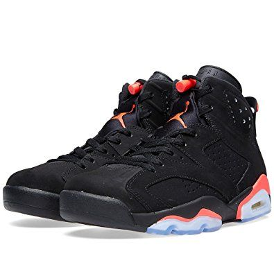 "671d860532c Nike Mens Air Jordan 6 Retro ""Infrared"" Black/Infrared 23 Suede Basketball  Shoes"
