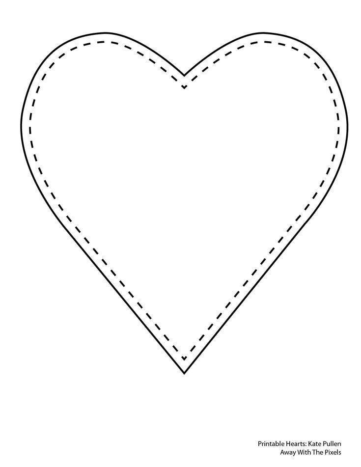 Free Printable Heart Templates  Heart Shapes Template And Shapes