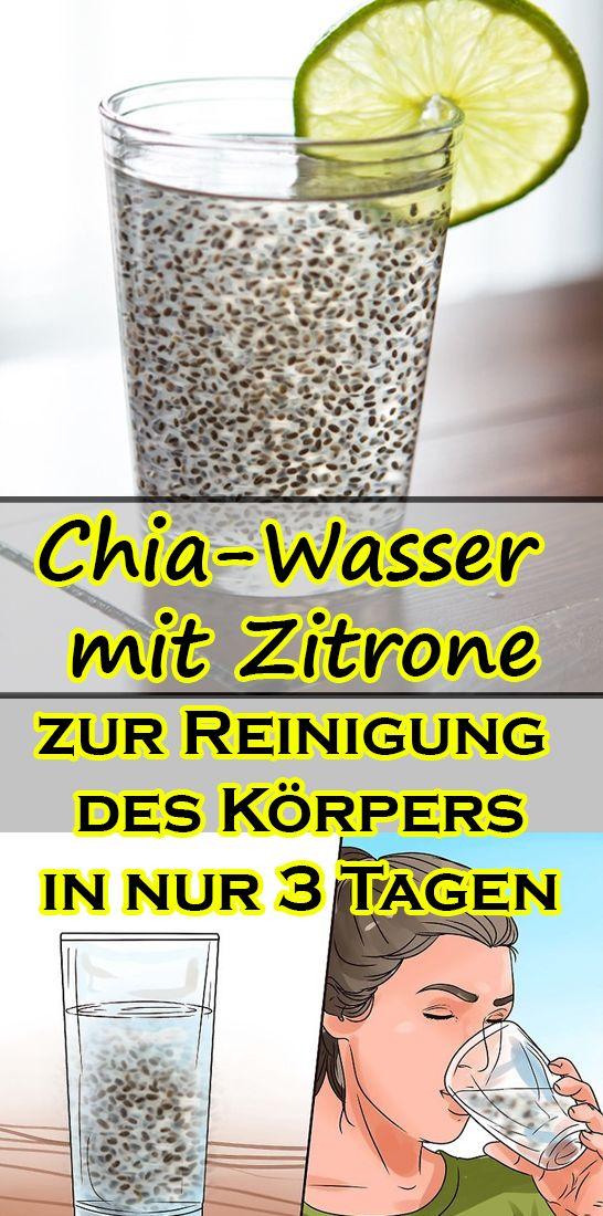 Chia Wasser Mit Zitrone Zur Beseitigung Von Angesammeltem Fett Und