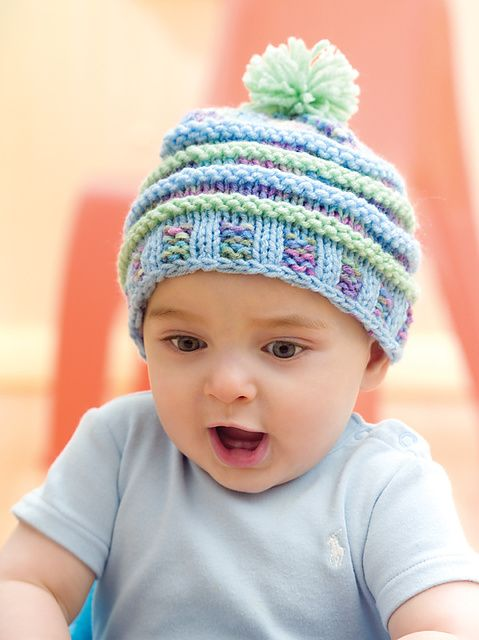 57336065ec0 Ravelry  Happy Knit Hat pattern by Linda Cyr (can I just note how amazingly  happy this child is)
